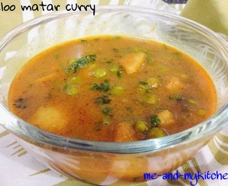 Aloo matar curry / Potato and peas curry/ Aloo matar gravy sabzi / Aloo matar raswali sabzi