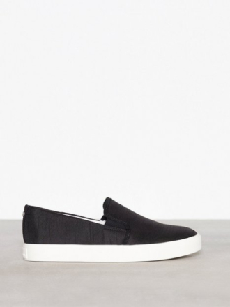 Sam Edelman Elton Silk Duponi Slip-On Svart