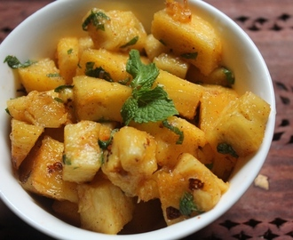 Pineapple Chaat Recipe - Pineapple Salad Recipe