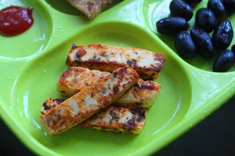 Toasted Paneer for Kids & Toddlers