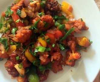 Baked Gobi Manchurian (dry version) | Healthy Baked Snacks | #PartyIdeas