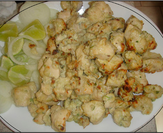 Cheesy Chicken Tikka Kebabs