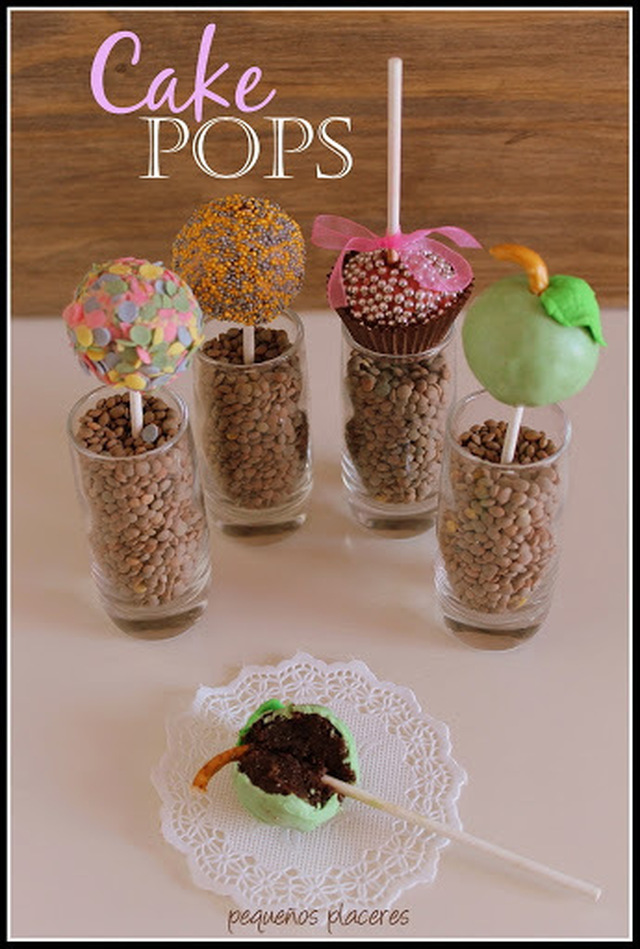 Cake pops de chocolate negro / Dark chocolate cake pops