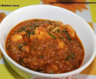 Prawn Balchao Curry (Goa style Prawn pickle curry)