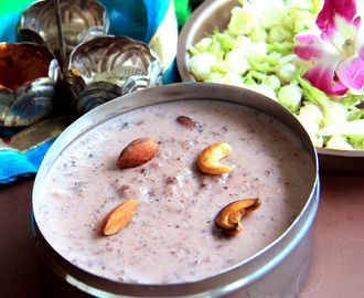 Black Rice Kheer - Black Rice pudding - Kavuni Arisi Kheer - healthy Kheer recipe - Healthy dessert recipe - Pooja Recipe - Naivedyam recipes - Festival Recipes