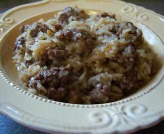 Oriental Rice Hamburger Helper