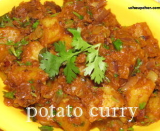 Potato curry I Alugedde palya with sambar powder recipe