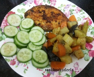 Paleo Diet Meal -  Boiled Veggie Stir Fry & King Fish Fry