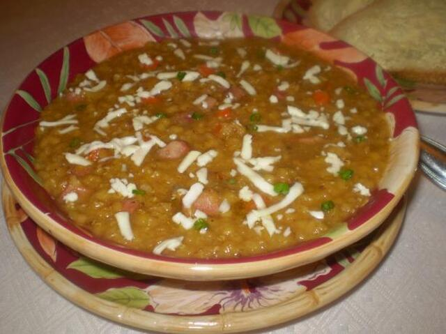 Mexican Lentil Soup With Panela Cheese