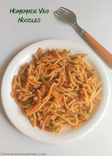 Indian Noodles Recipe | How to make Veg Noodles at Home Without Eggs from scratch