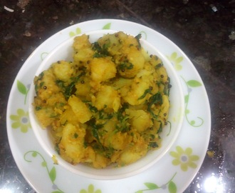Methi Batata nu shaak |Gujarati aloo methi recipe
