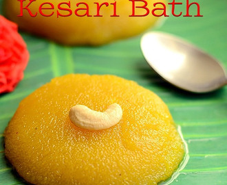 Kesari Bath Recipe-Karnataka Recipes
