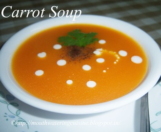 Carrot Soup Recipe -- How to make Carrot Soup Recipe