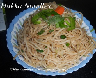 Veg Hakka Noodles Recipe -- How to make Veg Hakka Noodles Recipe