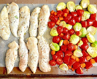 Sheet Pan Lemon Balsamic Chicken and Veggies