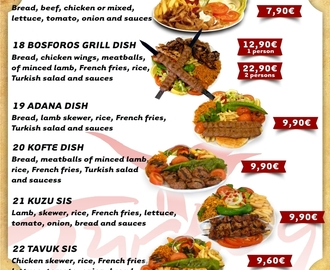 Imagen: MENU - Bosforos Turkish Restaurant Madrid