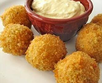 Buffalo Chicken Cheese Balls and Garlic Stuffed Mushrooms