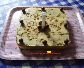 TARTA DE GALLETAS CON FLAN Y CHOCOLATE BLANCO
