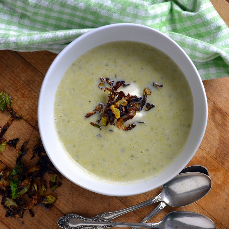 Soupe Flamande with Creme Fraiche and Frizzled Brussels Sprouts: #35 on Gourmet's List of the 50 Women Game Changers