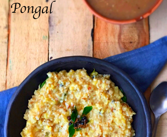 Oats Pongal | How to make Oats Pongal at home | Stepwise Pictures |