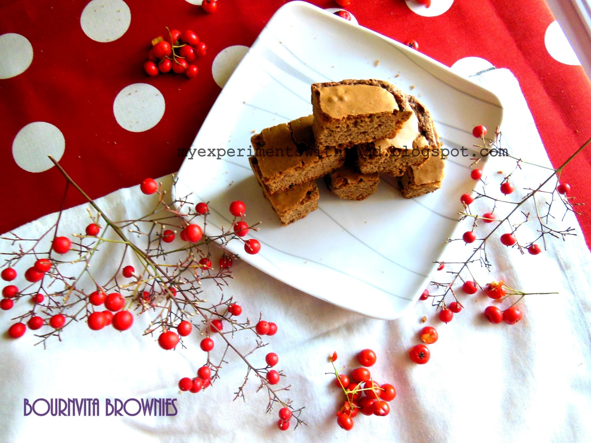 Bournvita chocolate Brownies- Celebrating Dad- in- law's birthday….