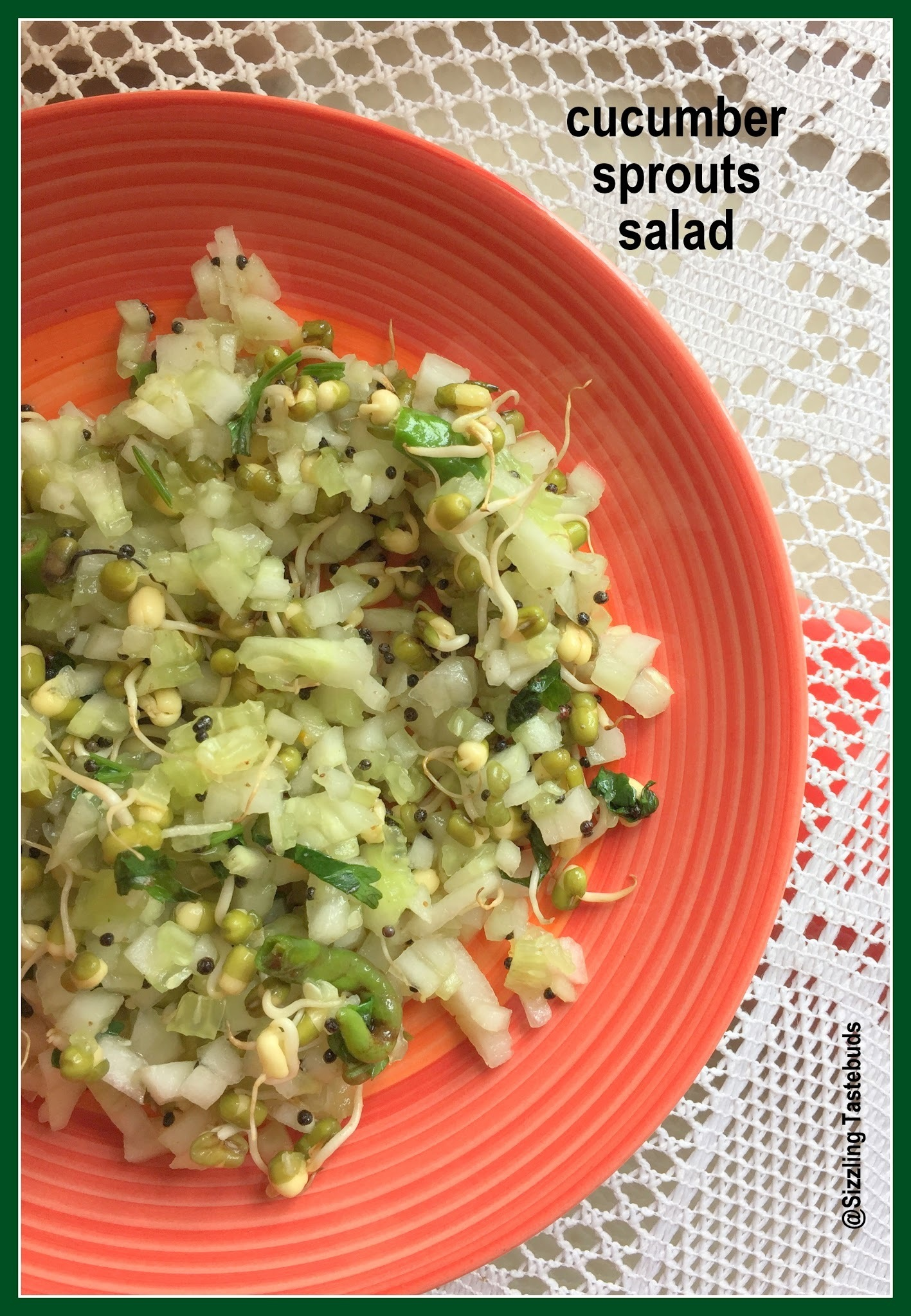 Cucumber Sprouts Salad | Easy Diabetic recipes | Salads