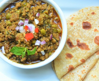 Kheema curry - ground meat, fenugreek and peas cury