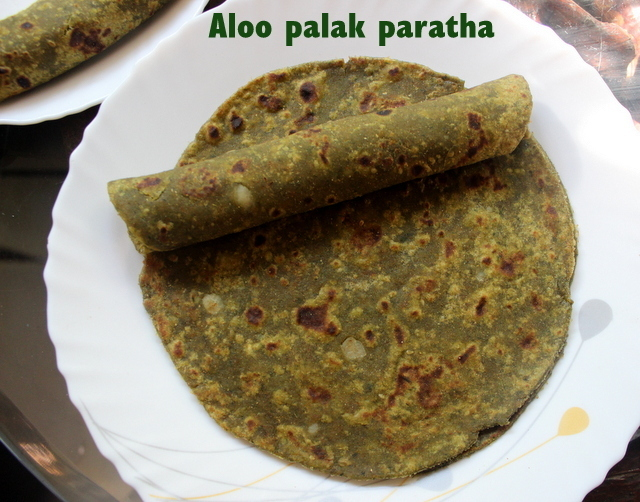Aloo palak paratha recipe – how to make aloo palak (potato spinach) paratha recipe