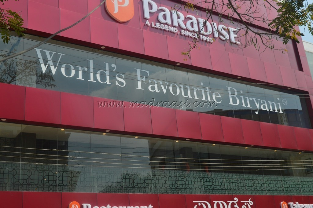 Food Review – PARADISE (World Famous Biryani)