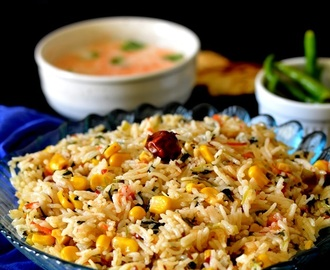 Corn Methi Pulav / Corn Rice Recipe
