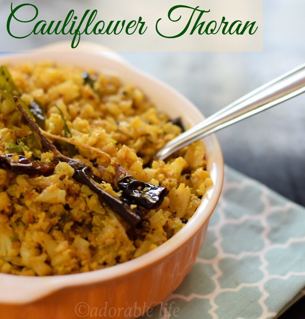 Cauliflower Thoran / Keral Style Stir Fried Cauliflower