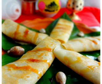 Patishapta.......Crepes with Coconut Filling
