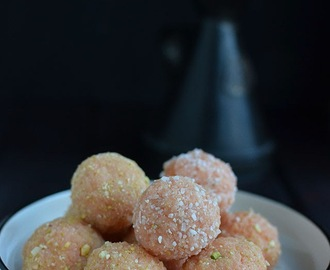 Easy Coconut Laddoo (using condensed milk)