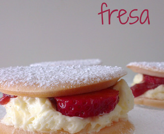 "♥ Whoopie pies de fresa ""Strawberry cream pies"""