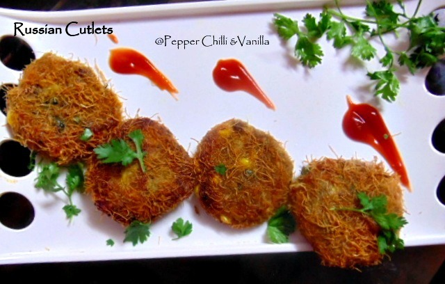 Chicken Russian Kabab/Russian Cutlets  Recipe.
