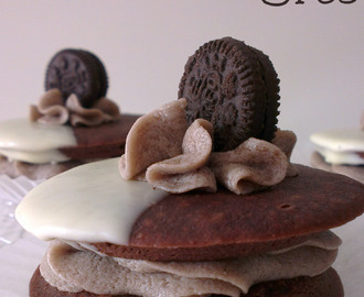 "♥ Whoopie pies de Oreo ""Cookies and cream pies"""