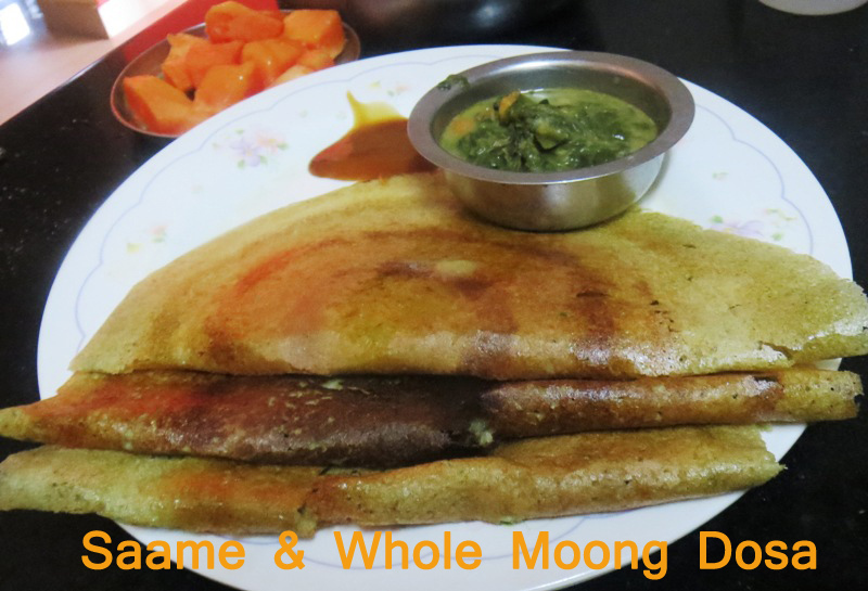 Little Millet & Whole Moong  Dosa