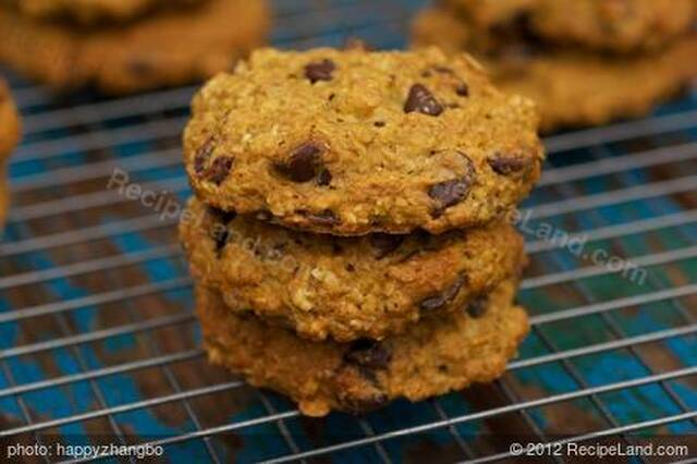 Pumpkin Oatmeal Chocolate Chip and Cranberry Cookies