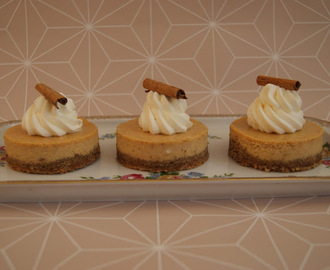Pumpkin Spice Cheesecakes