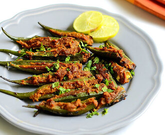 Bharwan Bhindi Recipe - Stuffed Okra Fry