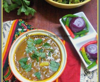 Green Moong Tadka Dal and Mix-veggie Stir Fry