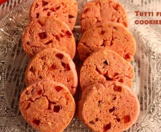 Tutti frutti cookies recipe – eggless tutti frutti biscuits recipe