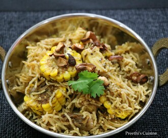 Indian Cottage Cheese  and Corn Cob Disc Biryani/ Paneer Aur Bhutte Ki Biryani