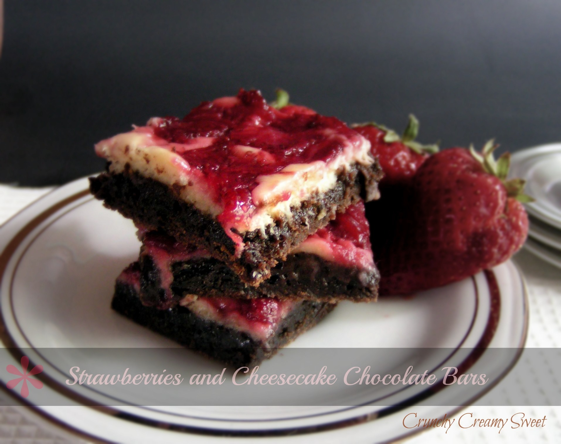 Strawberries and Cheesecake Chocolate Bars