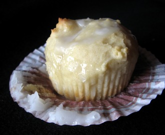 Yogurt Muffins with Lime Glaze
