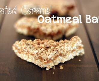 Salted Caramel Oatmeal Bars