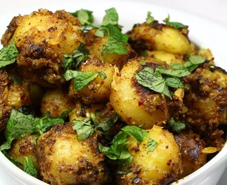 Achari Aloo ~ Baby Potato with Indian Pickled Spices