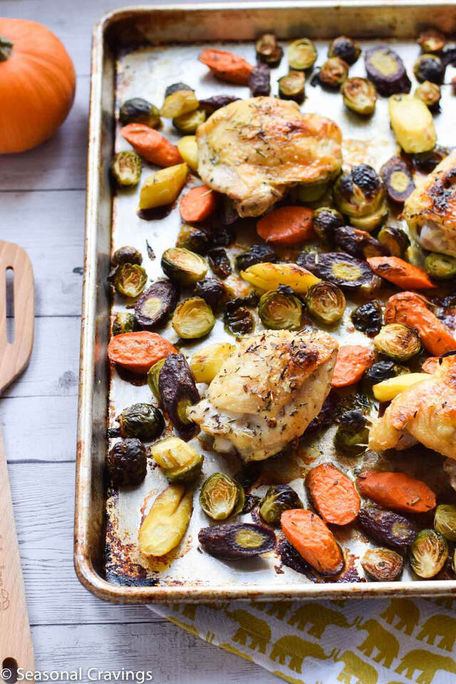 Sheet Pan Chicken and Brussel SproutsJump to Recipe
