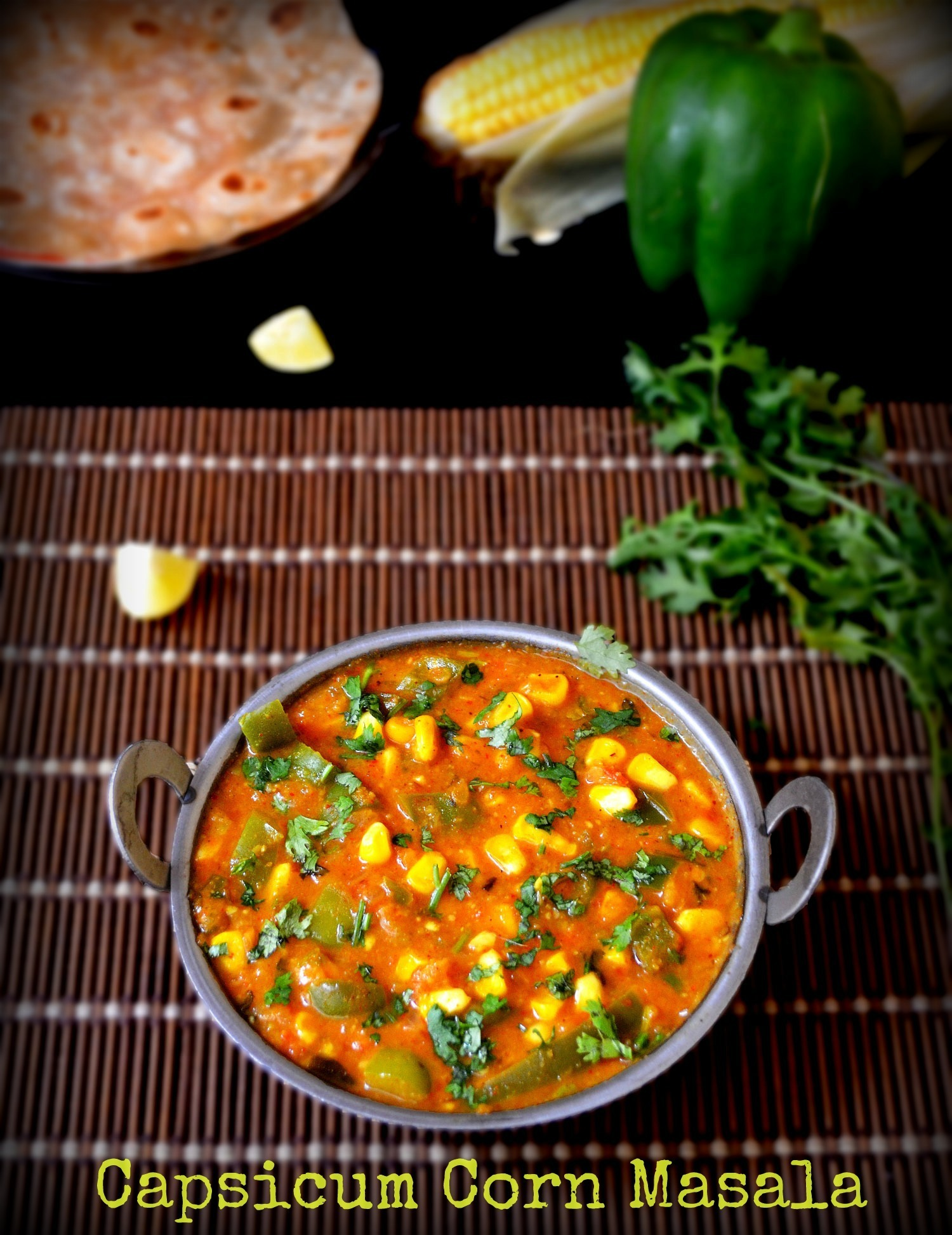 CORN CAPSICUM MASALA / CAPSICUM CORN CURRY - CAPSICUM CURRY