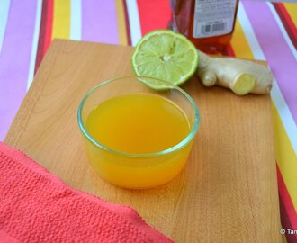 Ginger Tea for Cold/Sore Throat - Home Remedy